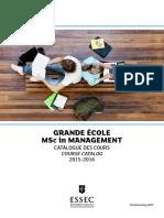 Catalogue Des Cours 2015-2016