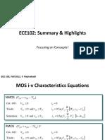 ECE102 F11 Summary Highlights