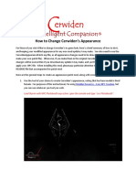 How to Change Cerwiden Appearance