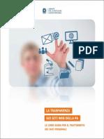 La Trasparenza Sui Siti Web Della PA - Linee Guida Del Garante