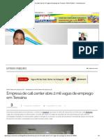 Empresa de Call Center Abre 2 Mil Vagas de Emprego Em Teresina - Efrém Ribeiro __ Meionorte