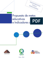 PROPUESTA DE METAS EDUCATIVAS E INDICADORES AL 2021