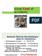 Actual Cost of Accidents