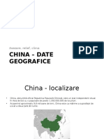 China – Date Geografice
