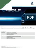 e Golf Preisliste