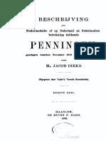 Beschrijving der Nederlandsche of op Nederland en Nederlanders betrekking hebbende penningen, geslagen tusschen November 1813 en November 1863. Dl. I / door Jacob Dirks