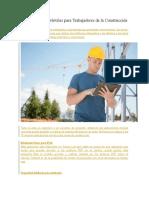 15 Aplicaciones Móviles Para Trabajadores de La Construcción