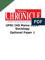 Sociology Paper 1