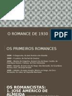 o Romance de 1930