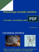 Curs 1 CB Metodologia Cercetarii