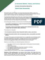 Northeast Humanist Values