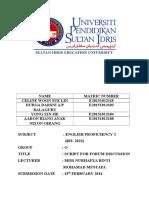 English Proficiency Forum Script