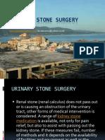 Urinary Stone Surgery