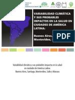 Variabilidad Climática y Sus Probables Impactos en La Salud en Ciudades de América Latina - E-book