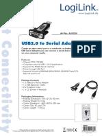 LogiLink AU0034 USB to Serial