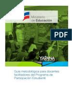 Guía Metodológica Para Docentes Facilitadores de PPE 2016-2017