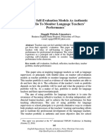 Teacher Self-evaluation Models as Authentic Portfolio to Monitor Language Teachers Performance