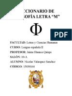Diccionario de Filosofía Letra M