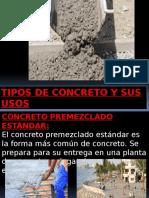 tipos de concreto y sus usos