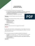TALLER FINAL ORGANIZACION Y METODOS