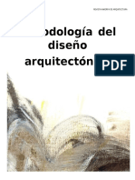 Metodologia Del Diseno Arquitectonico