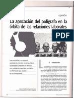 La Aplicación Del Polígrafo en La Órbita de Las Relaciones Laborales