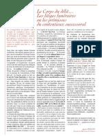 Le Corps du delit -  les litiges funeraires ou les premisses du contentieux successoral (septembre 2009)