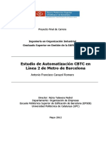 Estudio de Automatización en Metro Barcelona