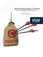 Approaching Magic Practice Dominic Reyes