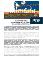 Declaracion Final Cumbre Pueblos- Enlazando Alternativas IV