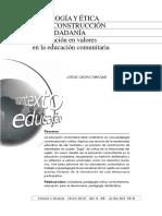 Osorio Vargas, Jorge - Pedagogía y Ética en La Construcción de Ciudadanía. Ed. Comunitaria.