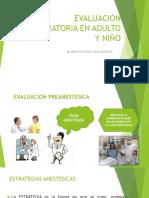 Evaluación Preoperatoria en Adulto y Niño
