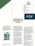 Triptico Problemas Conviviencia Perú