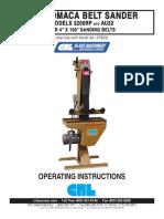 Manual Crl-somaca Belt Sander