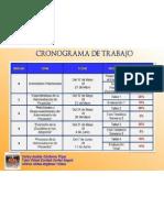 Cronograma de Trabajo Admon Proyectos Mayo