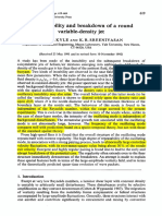 Kyle, Sreenivasan - The Instability and Breakdown of a Round Variable-Density Jet (1993)