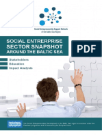 Social Enterprise Sector Snapshot Around the Baltic Sea Stakeholders Education Impact Analysis
