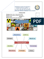 Portafolio de Toxicología
