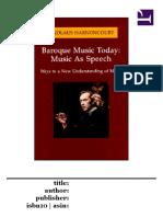 Music as Speech