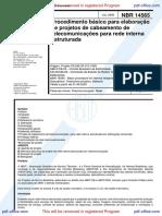 NBR 14565 - 2000 - Projetos de Cabeamento