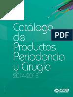 Catalogo Periodoncia y Cirugia Coa 14-15
