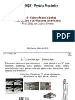 Aula 11 Cabos Aço ProjetoMecânico 2016