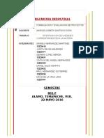 Investigacion de Unidades de Formulacion y Evaluacion de Proyectos