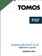 Katalog Rezervnih Delov  za Tomos Apn 6