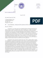 Letter to developer Robert Clark