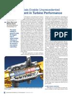 New Materials Enable Unprecedent Improvement in Turbine Performance