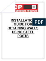 Installation Guide for Retaining Walls Using Steel Posts