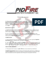 Rapid Fire Work for Hire Agreement Mark Marvida Prelim
