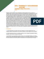 Trabajos Practicos de Derecho Del Trabajo y Seguridad Social
