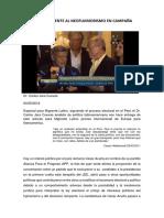 Ppk y Acuña Frente Al Neofujimorismo en Campaña